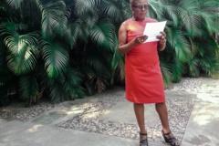 Emmelie Prophète, poète, écrivaine et directrice de la Bibliothèque nationale d'Haïti
